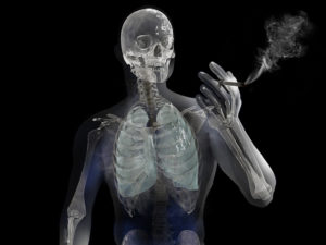 Skeleton Smoking